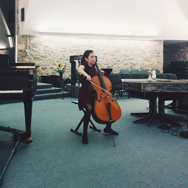 Finalist Perla Cardenas performing at the 2015 Competition for Young Musicians #vscocam #vsco #cellist #cello #elpaso #musician #musicianlife