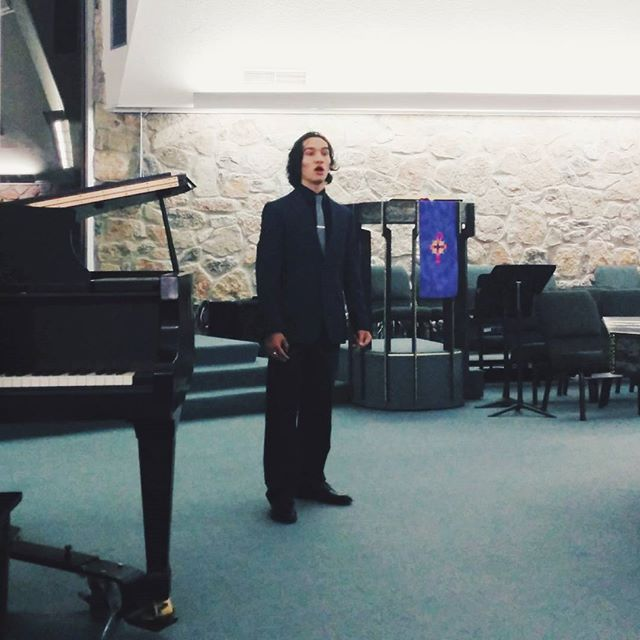 Finalist Leonard Ayala performing at the 2015 Competition for Young Musicians #vscocam #vsco #vocalist #baritone #musician #elpaso