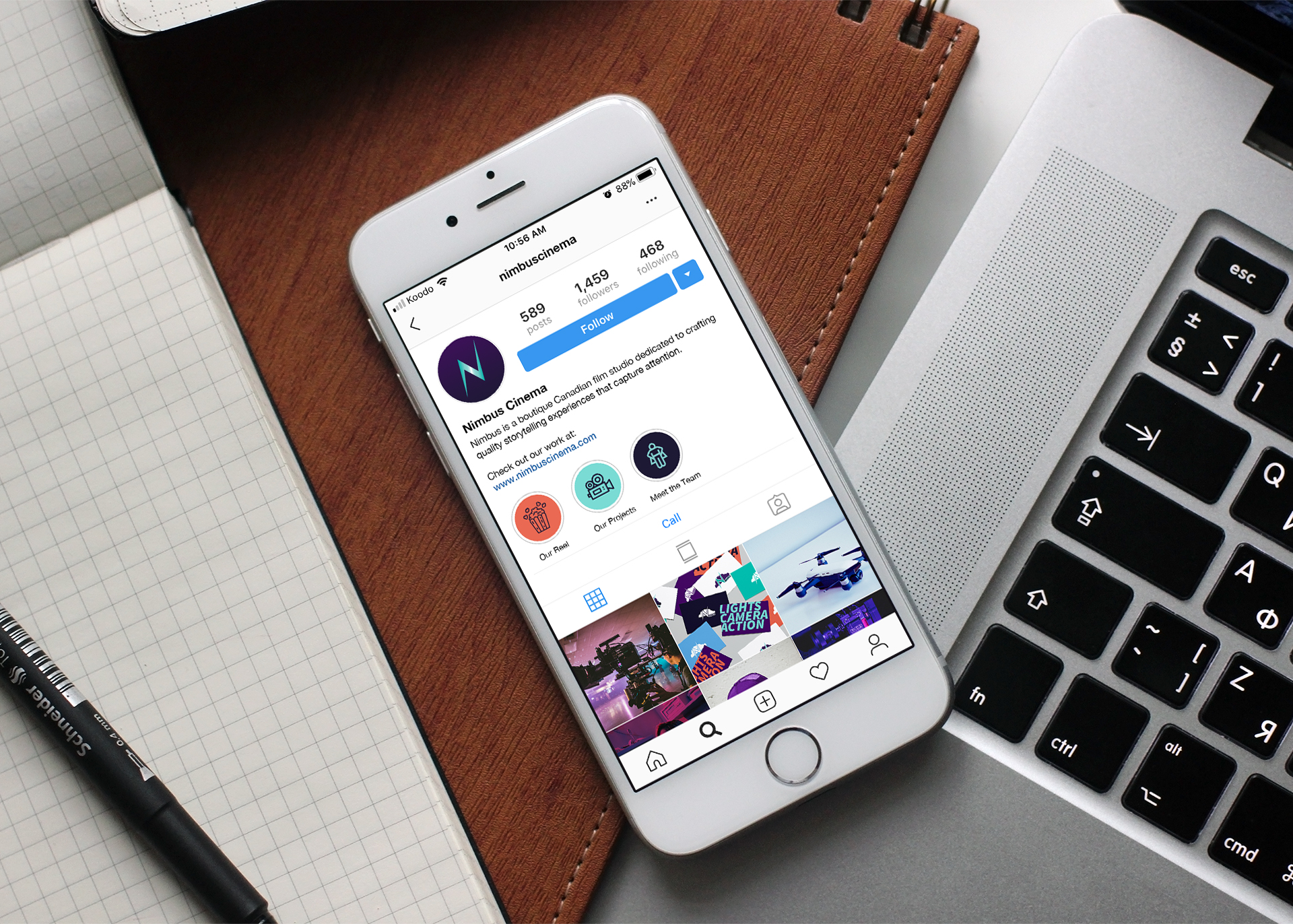 Nimbus Social Media Mockup