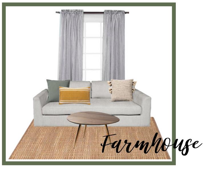 Farmhouse room - Pillow 1Pillow 2Pillow 3RugCurtains