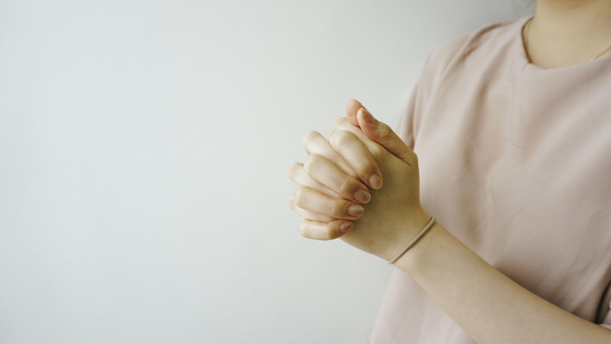 Praying hands at NCC