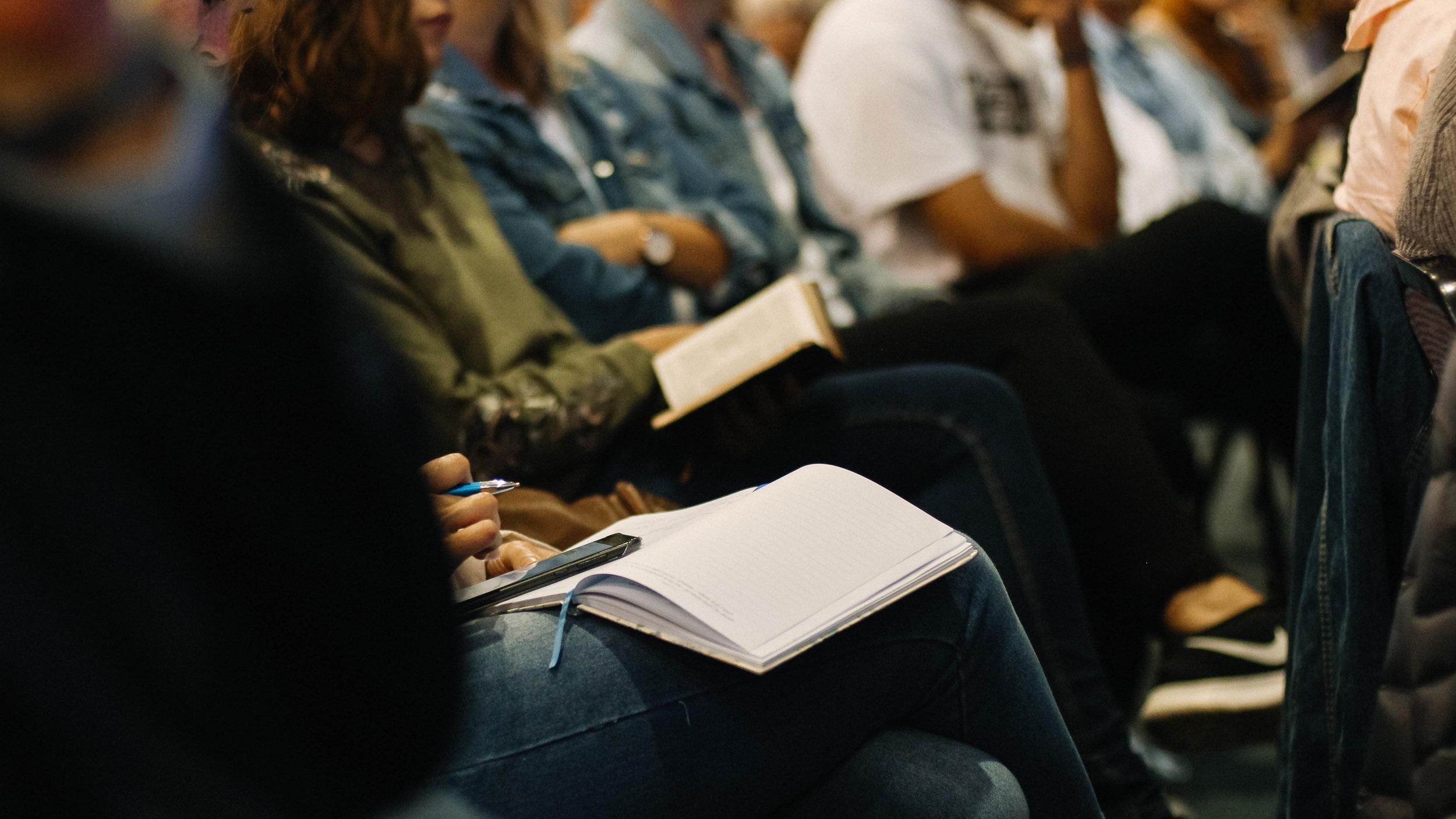Listening to the sermon at Nechako Community Church in Vanderhoof, BC