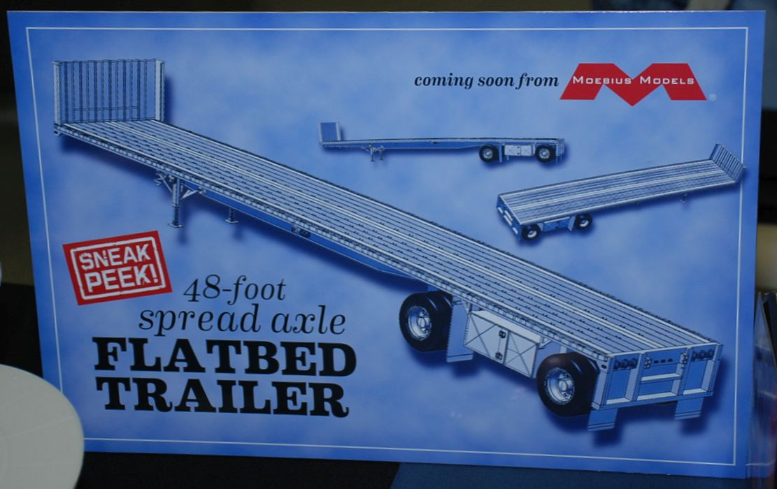 Moebius Models 48 Foot Spread Axle Flatbed Trailer
