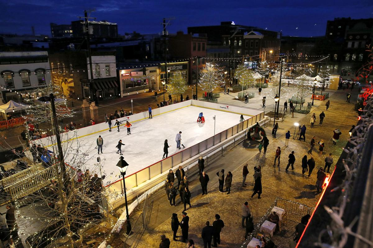 Richmond's 17th Street Farmers Market and its ice rink.