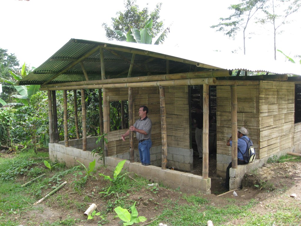2009 - FLF builds its first bamboo home and begins FLF's Bamboo Housing Program.