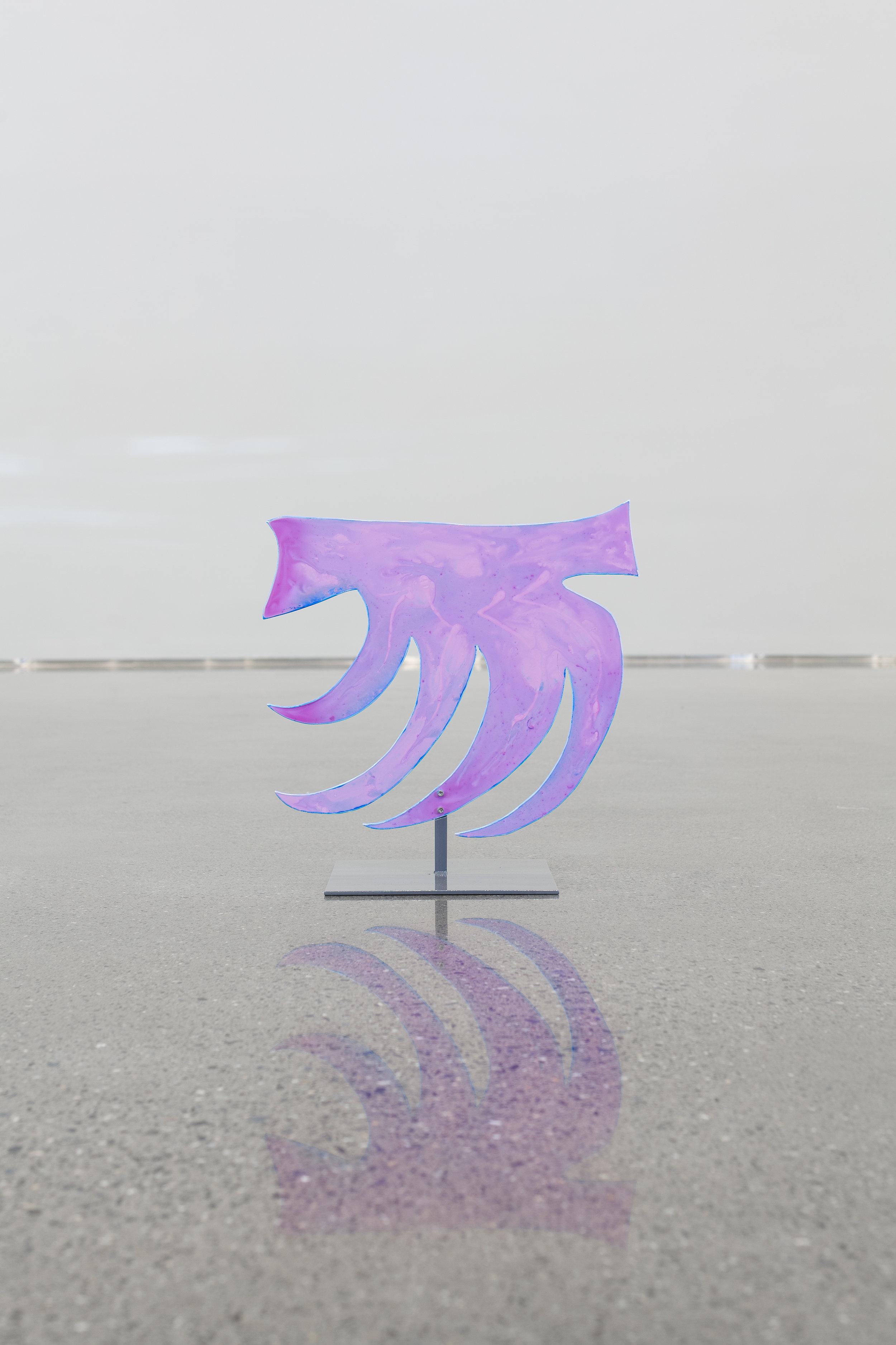 Rosa Skjell, 2019  Acrylic on aluminum