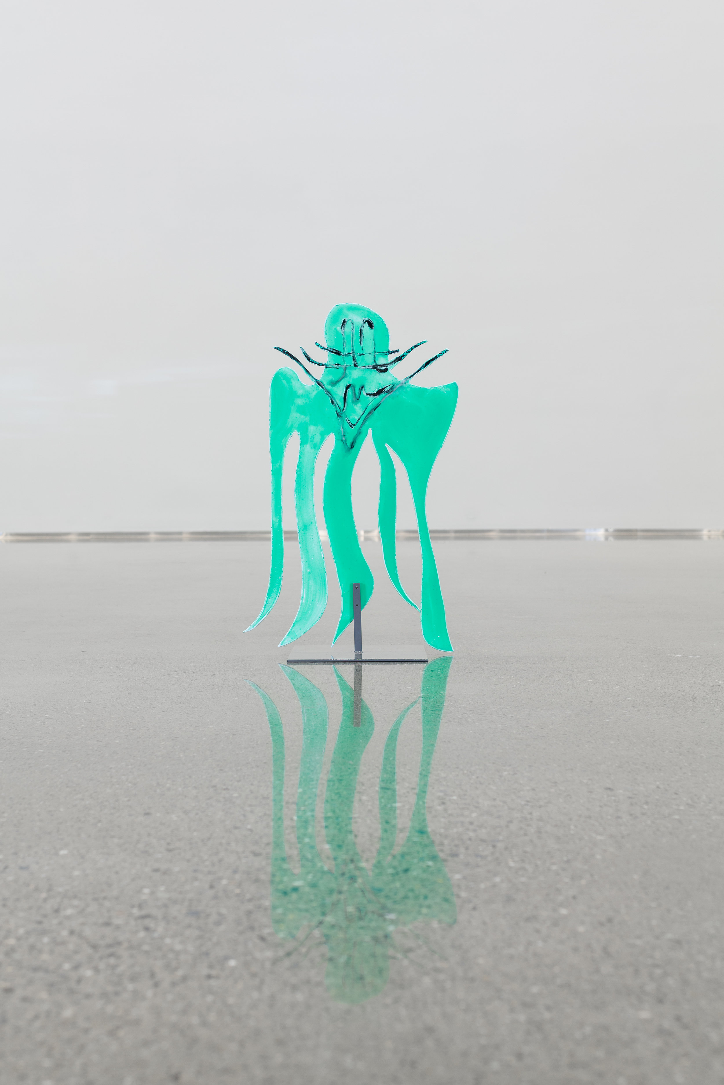 Aprikostr  æ  rne Finnes, 2019  Acrylic on aluminum