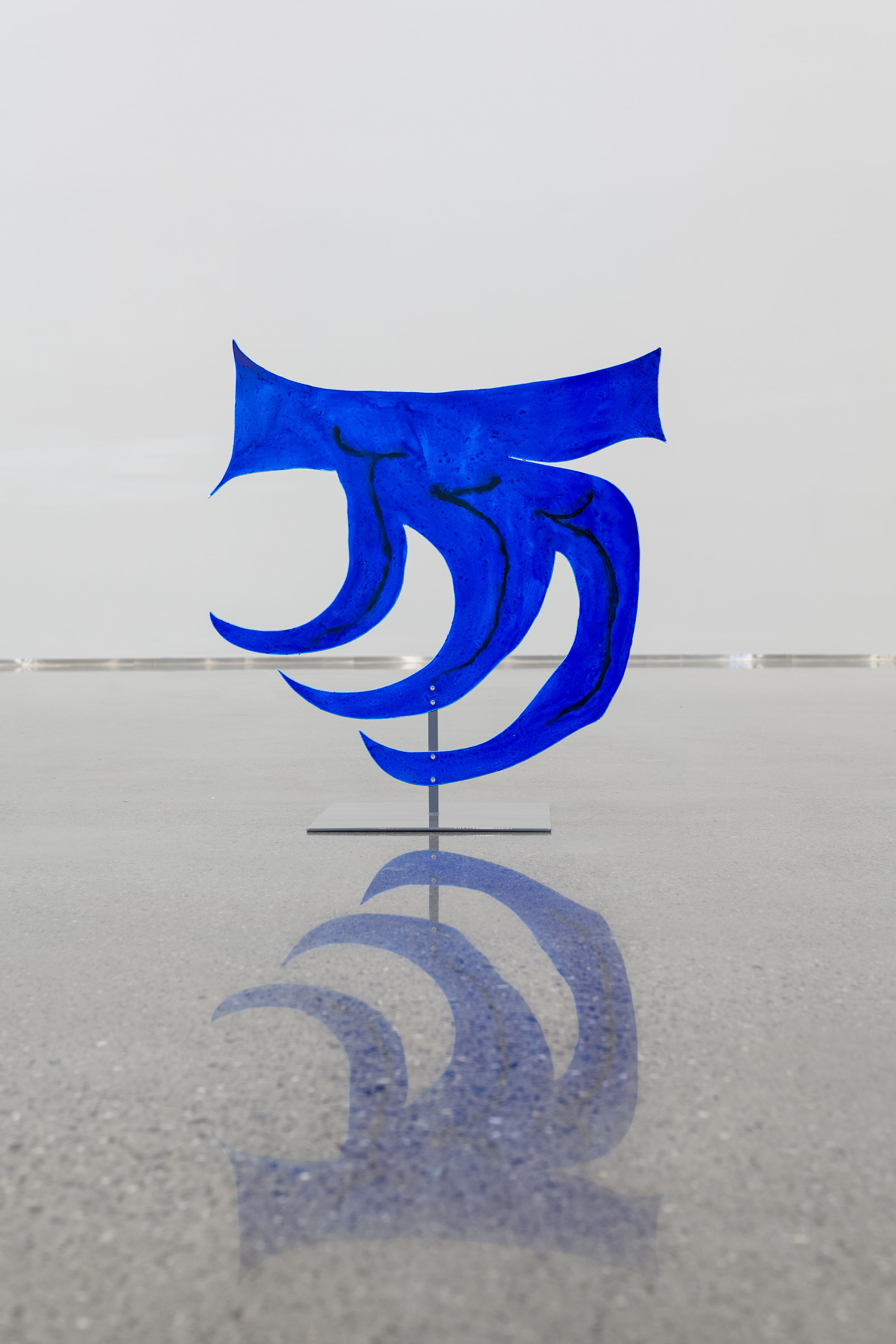 Blått Skjell, 2019    Acrylic on aluminum