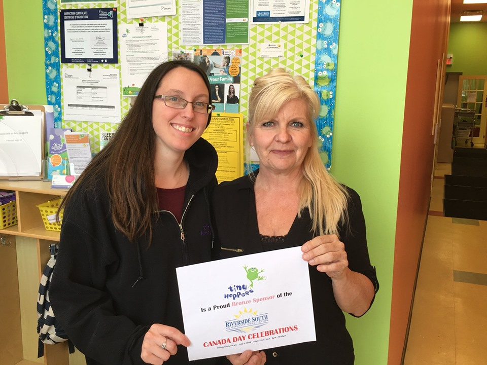 THANK YOU! Tiny Hoppers Riverside South - (Bronze Sponsor) Kayla Burri and Caron BenjaminNot pictured:Richcraft, Urbandale Corporation and HN Homes are all Platinum sponsors as well!Finally, our Councillor Carol Anne Meehan has also sponsored the event.SPONSORSHIP OPPORTUNITIES