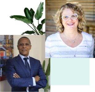 Jackson Lima, Deputy Ambassador na embaixada do Brasil em Abuja, Nigéria, e Silvana Becker, Psicóloga, Psicodramatista. Ambos Agentes de Paz em treinamento pelo programa de pós-graduação da Paz & Mente.