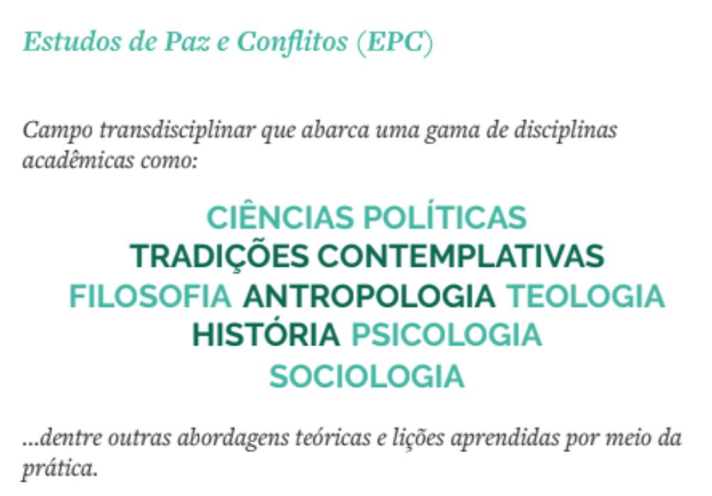 Estudos de Paz e Conflito EPC
