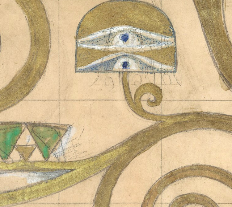 pencil marks—seen! - Plane ticket and Austrian schnitzel eating not required to get close to Klimt's sketch