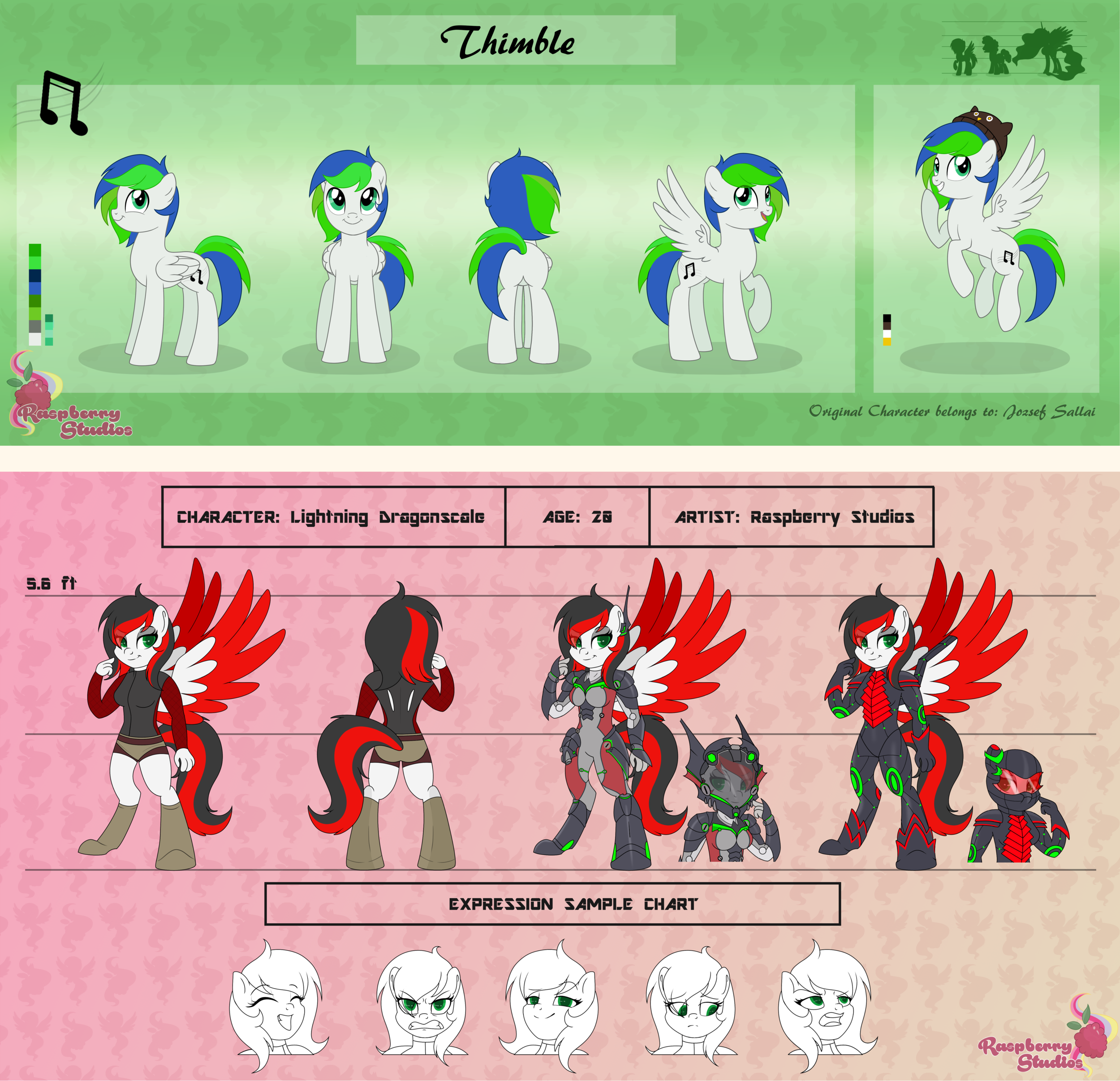 Large Reference Sheet - Pony/Feral: $40 USD - Additional Angle/Outfit $5Pony/Feral reference sheets show your original character from four different angles (front, back, side, and 3/4) and one extra (your choice of pose/outfit).________________________________________________Anthro/Humanoid: $60 USD - Additional Angle/Outfit $10Anthro reference sheets come with a front and back pose of your character's main outfit plus two extra (can show character markings or other outfits). Comes with up to five expressions.________________________________________________Please note there is an extra charge for any redesign work I am asked to do on characters or clothing. Price varies depending on the amount of work I am asked to do.