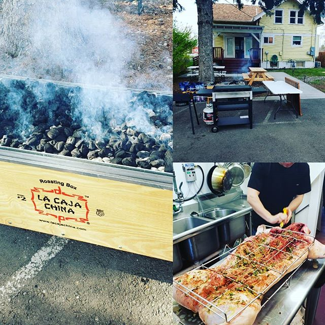 Pig roast is on! Hope to see you guys at noon! We gonna serve it till it's gone!  Catch us at The Bozeman Supper Club! 609 West Mendenhall. The party is out back. Joe Knapp playing tunes. $20 dollar donation for plate!  #thebozemansupperclub #radass #radfoodsmt #bozeman #bigsky #memorialdayweekend #pigroast  @radfoodsmt