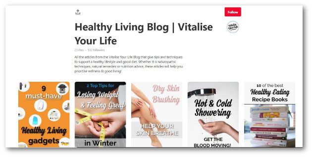 vitalise your life main board