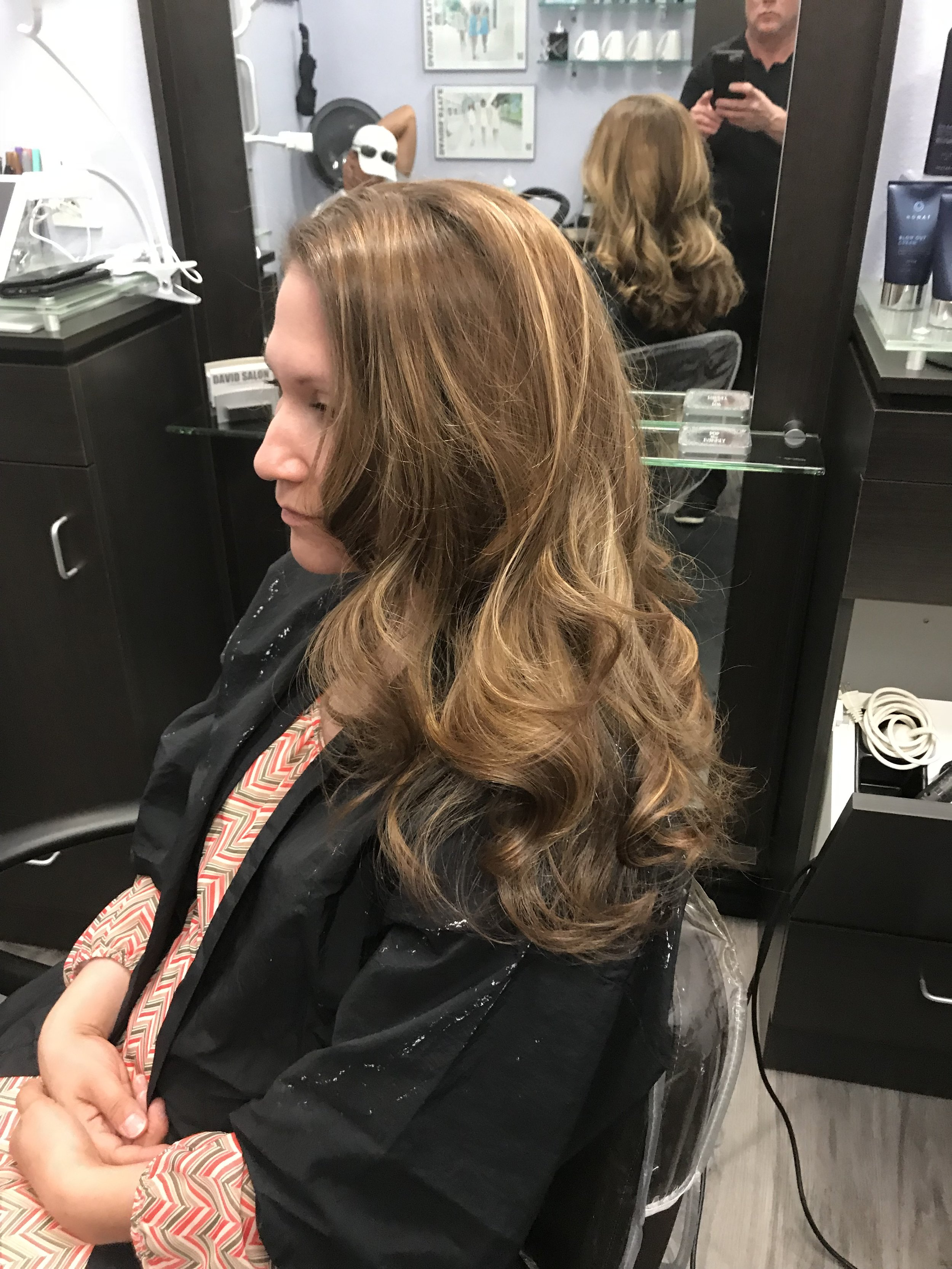 Chelsea after her balayage application