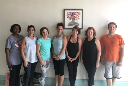 Have you tried yoga yet? - I have done yoga on and off for about 15 years, but it wasn't until the last few years that I committed to a regular practice. It was during that time that I realized that yoga is more than exercise. It is a way to relieve stress, rebalance the body and mind, and quiet down in our busy world. On a physical level, it has helped me improve my flexibility, balance and strength and led me to become more aware of my own body. I have scoliosis and have found yoga immensely helpful in relaxing my back muscles while strengthening them at the same time. On a mental level, yoga and meditation have helped me step back and assess challenging situations before blindly reacting to them. They have also increased my spirituality and taught me to trust that the right thing will happen at the right time.