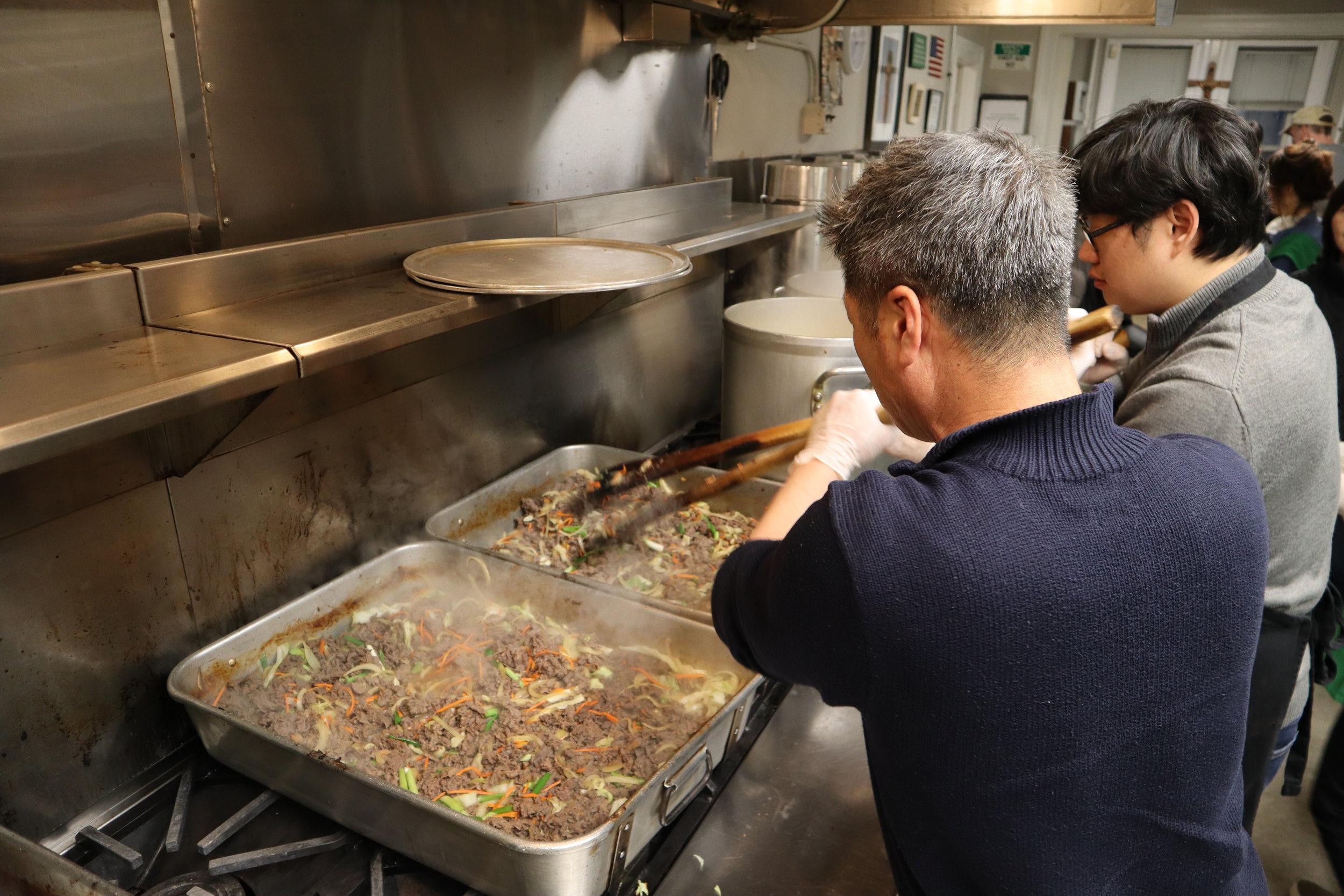 Cooking the Bulgogi (Korean Style Beef)