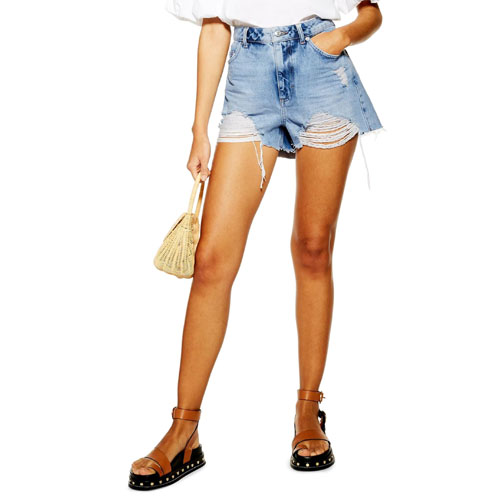 Topshop Mom Jeans Shorts