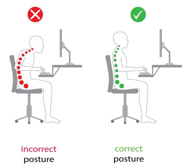 *Fig 1. Posture image form  https://theacidrefluxsolution.com