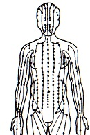 - Eastern medicine has a basis in the understanding of body flow. The chi map that helps us understand acupressure points looks much like a road or train map. Each pressure point must have good circulation or it can develop into pain and/or referred pain.