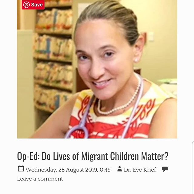 We ❤ the inspiring + relentless work of our core team volunteer Dr. Eve Krief. Read her latest op-ed published in her local Huntington, Long Island paper.👏👇 https://huntingtonnow.com/migrants/  I have been disturbed by many stories and images over the past several years of migrant children being traumatized at our southern border. One story in particular about a boy named Carlos has haunted me since I first learned of it . Perhaps it is because he was the same age as one of my own children. Perhaps it is because he exemplifies so much of the cruelty, neglect and dehumanizing conditions that many thousands of nameless and faceless children have had endure at our government's hands.  I am haunted by 16 year old Carlos Hernandez Vasquez. He died of the flu. He was not surrounded by doctors and nurses whose responsibility- whose sacred duty it would have been to try and save his life. No. Carlos died alone. He died in a customs and border patrol facility cell slumped next to a toilet. The autopsy this past summer showed that he died from complications of the flu including pneumonia and sepsis after spending six days in CBP facilities. He was all by himself when he died.  His death highlights the need for proper medical oversight and care of immigrant children and families entering the United States. Though in the past one might have assumed that adequate medical care that met humanitarian standards would be provided, that is no longer the case. As such, these standards of care have been written into legislation that now sits buried on the majority leader's desk... Americans need to think long and hard about these questions and they must not let their answers be guided by their political party but by their humanity. Americans must understand that their answers to these questions define the soul of our country and will be judged by history for generations to come. #endfamilydetention #SaveFlores #closethecamps #neveragainisnow