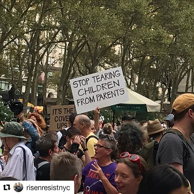 We ❤ @risenresistnyc - they haven't let up the pressure since 2017 and their protests keep getting bigger.🙌 #Repost @risenresistnyc (@get_repost) ・・・ Several hundred already gathered in Bryant Park for United In Outrage: The Resistance March. We're stepping off at 6.