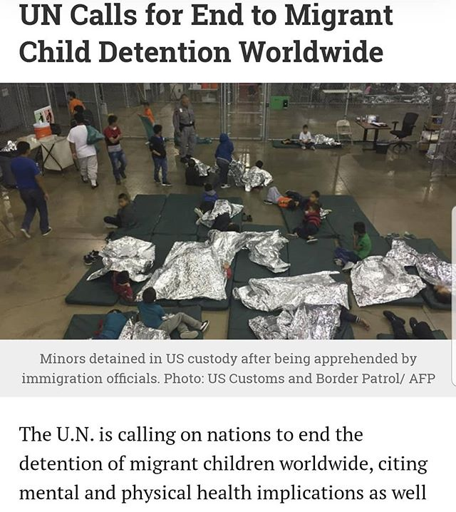 """The U.N. is calling on nations to end the detention of migrant children worldwide, citing mental and physical health implications as well as cost. In apress releaseon Monday, the United Nations Network on Migration (UNNM) said the detention of child migrants is a violation of child rights and is damaging to children's physical and mental health. Instead, the network suggests governments replace the practice withcommunity-based programs, case management, and other human rights-based alternatives. In July, the U.N. human rights chiefsaidthat she was """"deeply shocked"""" by conditions under which migrants and refugees are held at U.S. detention centers. """"As a pediatrician, but also as a mother and a former head of State, I am deeply shocked that children are forced to sleep on the floor in overcrowded facilities, without access to adequate healthcare or food, and with poor sanitation conditions,"""" the U.N. High Commissioner for Human Rights,Michelle Bachelet, said. #endfamilydetention #closethecamps #neveragainisnow #nokidsincages 💔✊🏽✊🏾✊🏼 Full UNNM press release👇 https://reliefweb.int/report/world/child-immigration-detention-not-only-wrong-it-ineffective"""
