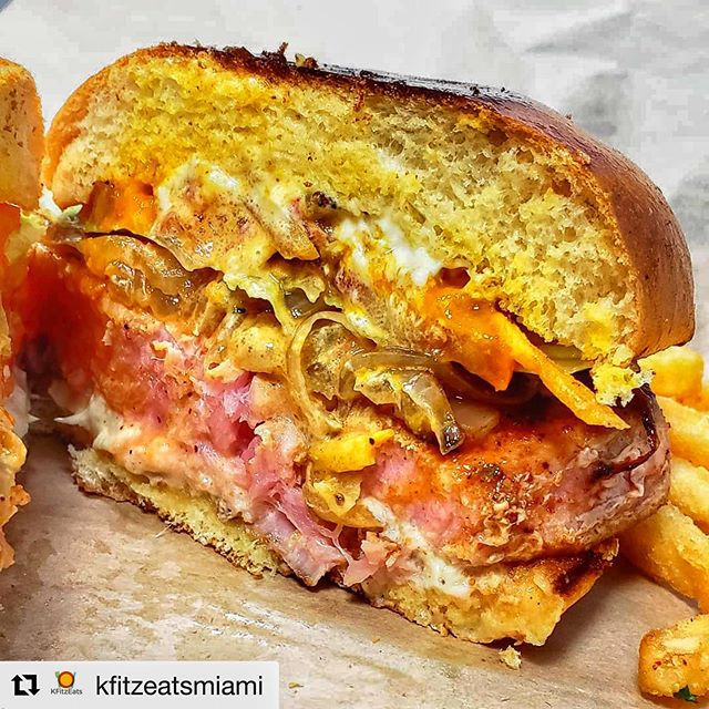 Thank you for the love @kfitzeatsmiami ・・・ If you're feeling some fresh seafood for lunch today then check out @freshco_fish 🎣 this hole in the wall fish market serves some quality ocean fare at reasonable prices ⠀⠀⠀⠀⠀⠀ ⠀⠀⠀⠀⠀⠀ This is the Tuna Steak Sandwich 🐟 $11.95 : (ordered rare) grilled onions, lettuce, tomato, tostone sticks & cilantro mayo ⠀⠀⠀⠀⠀⠀ ⠀⠀⠀⠀⠀⠀ I loved how huge the tuna steak was--- it was a meaty sandwich! Came with French fries 🍟 and felt like a great price for what it was 👍 I'll be back to try more!