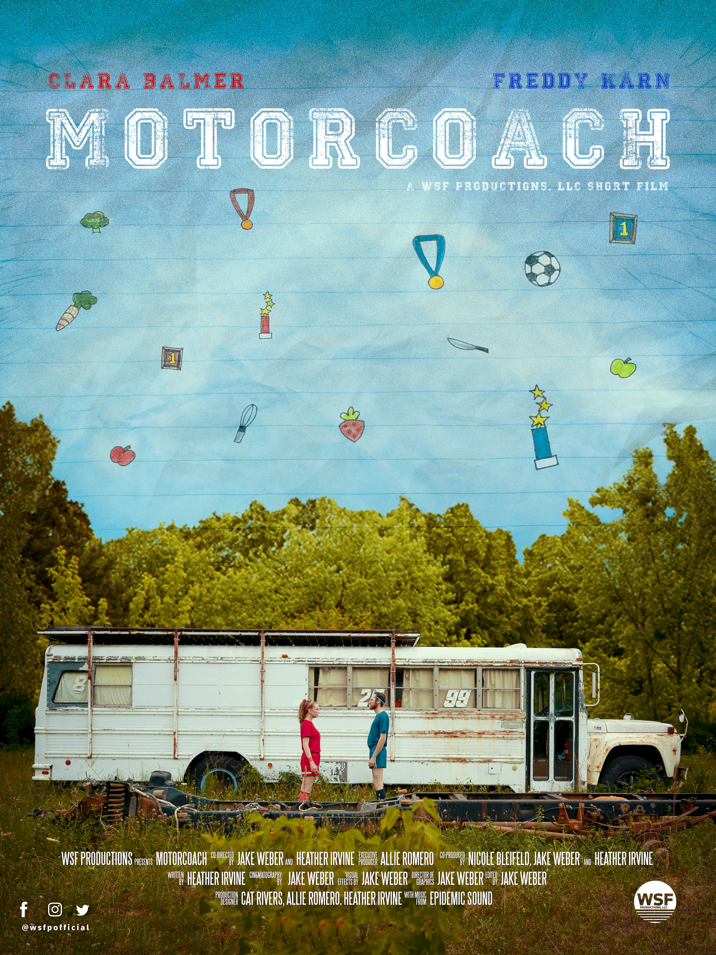 Motorcoach  Twins compete for dominance but reunite for a pilgrimage to their family bus for a truce.