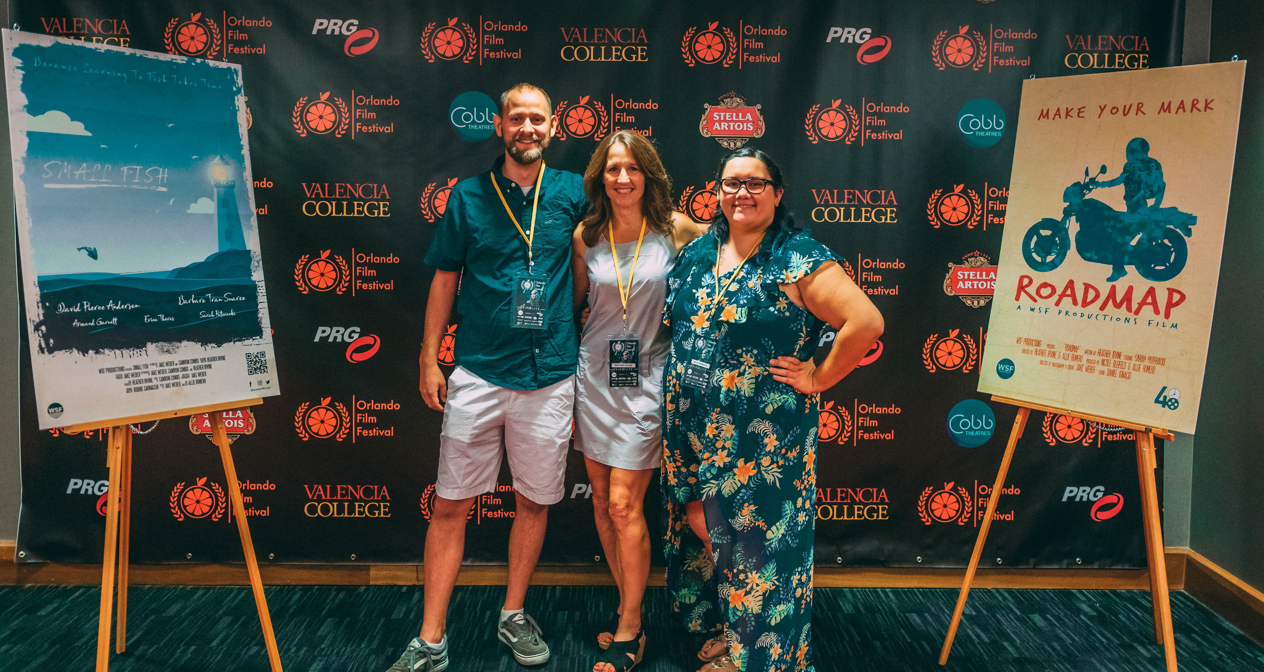 Crew attending the 2018 Orlando Film Festival for the screenings of both  Small Fish  and  Roadmap