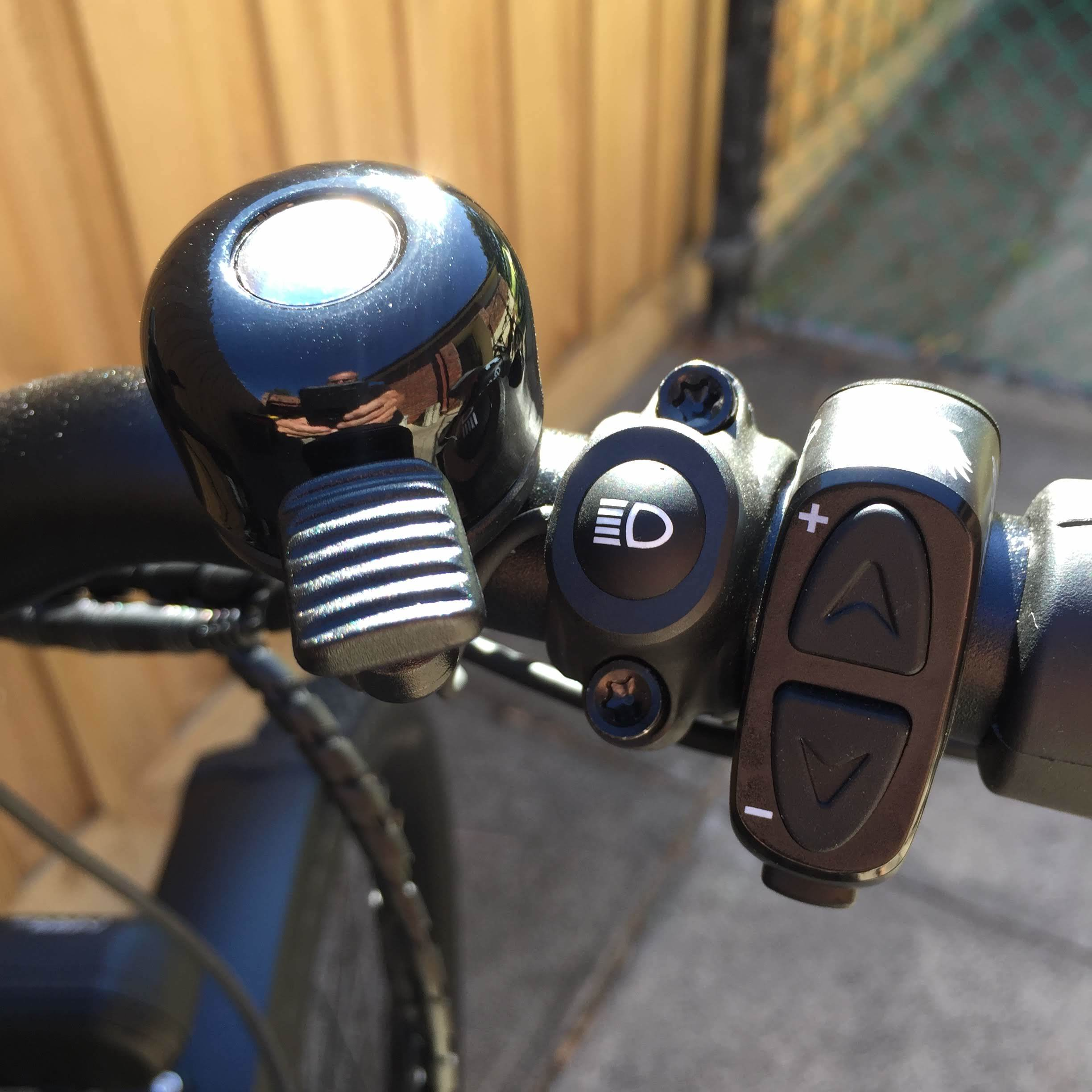Bell, main/dipped beam and gear shifter