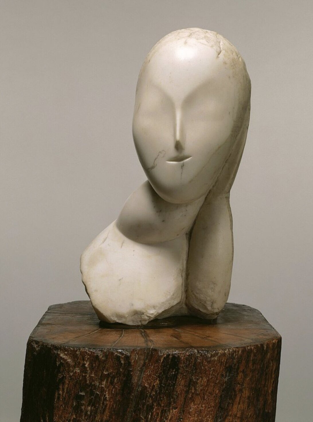 Artist    Constantin Brancusi    Title   Muse   Date    1912    Medium   Marble