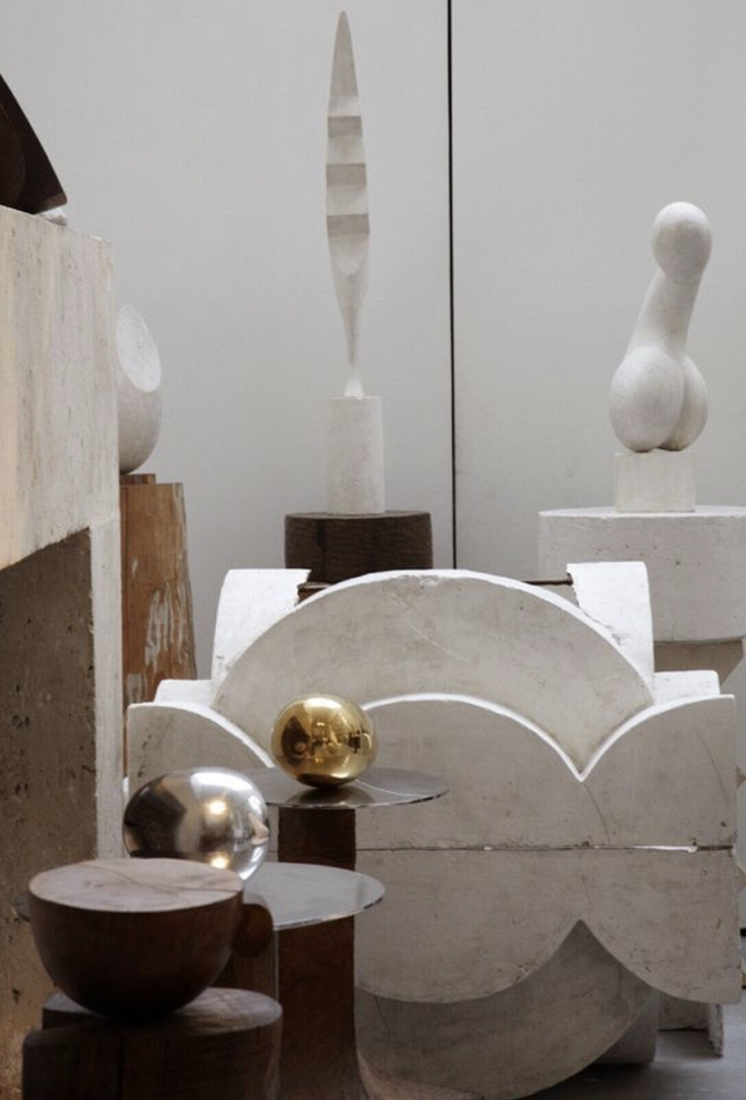 Artist   Constantin Brancusi  Paris studio.