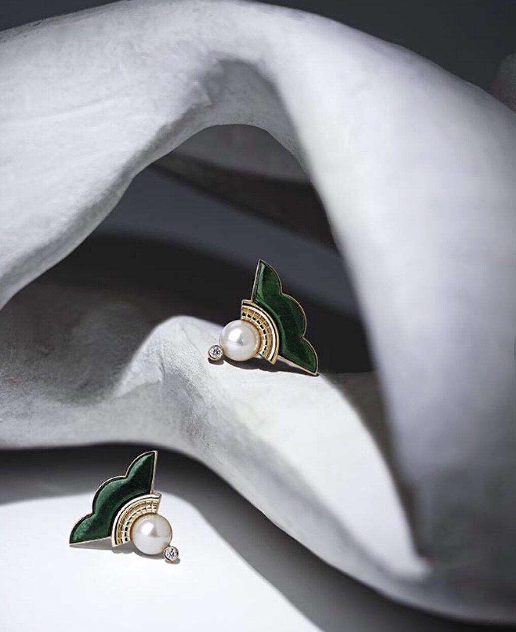 Earrings from Ioanna Souflia's Atelier Collection.  Image  @ioanna_souflia