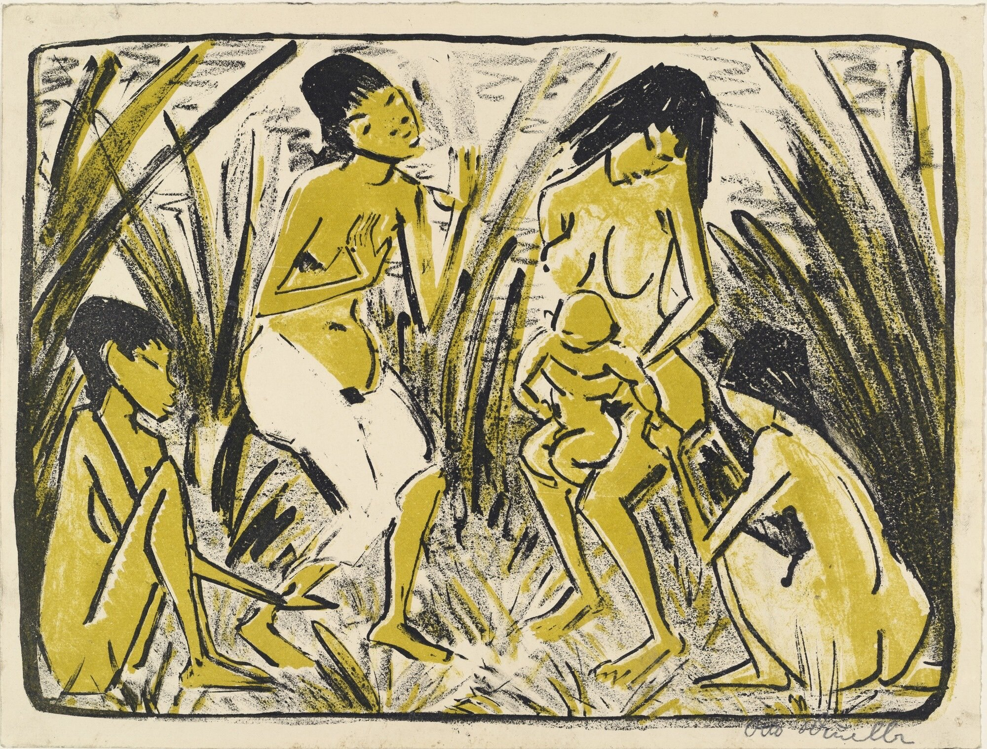 Artist   Otto Mueller   Title   Discovery of Moses   Date   Ca. 1920   Medium   Lithograph   Image at   @moma.org