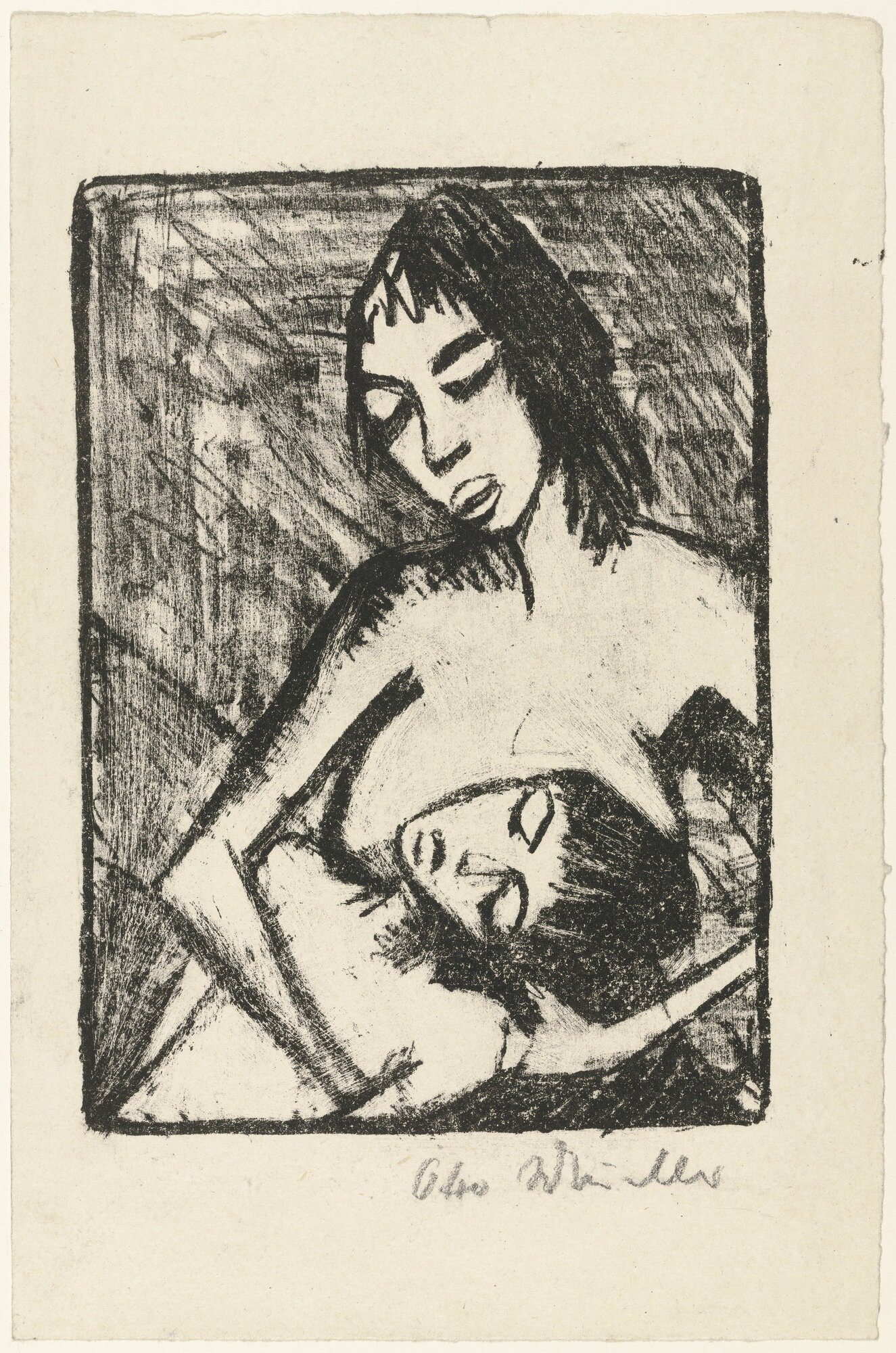 Artist   Otto Mueller   Title   Mother and Child 2   Date   1920   Medium   Lithograph   Image at   @moma.org