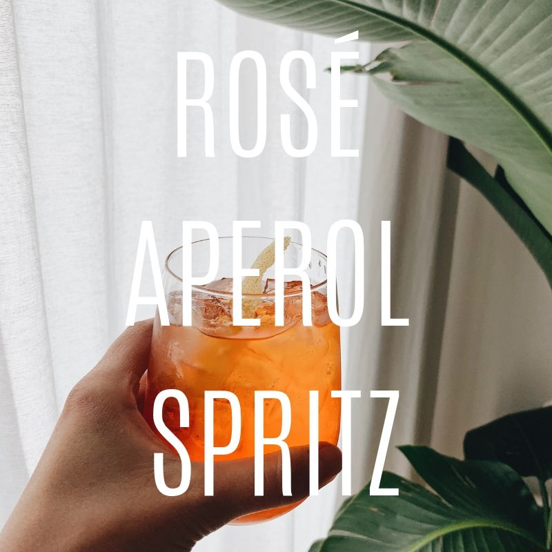 A Refreshing Rose Aperol Spritz