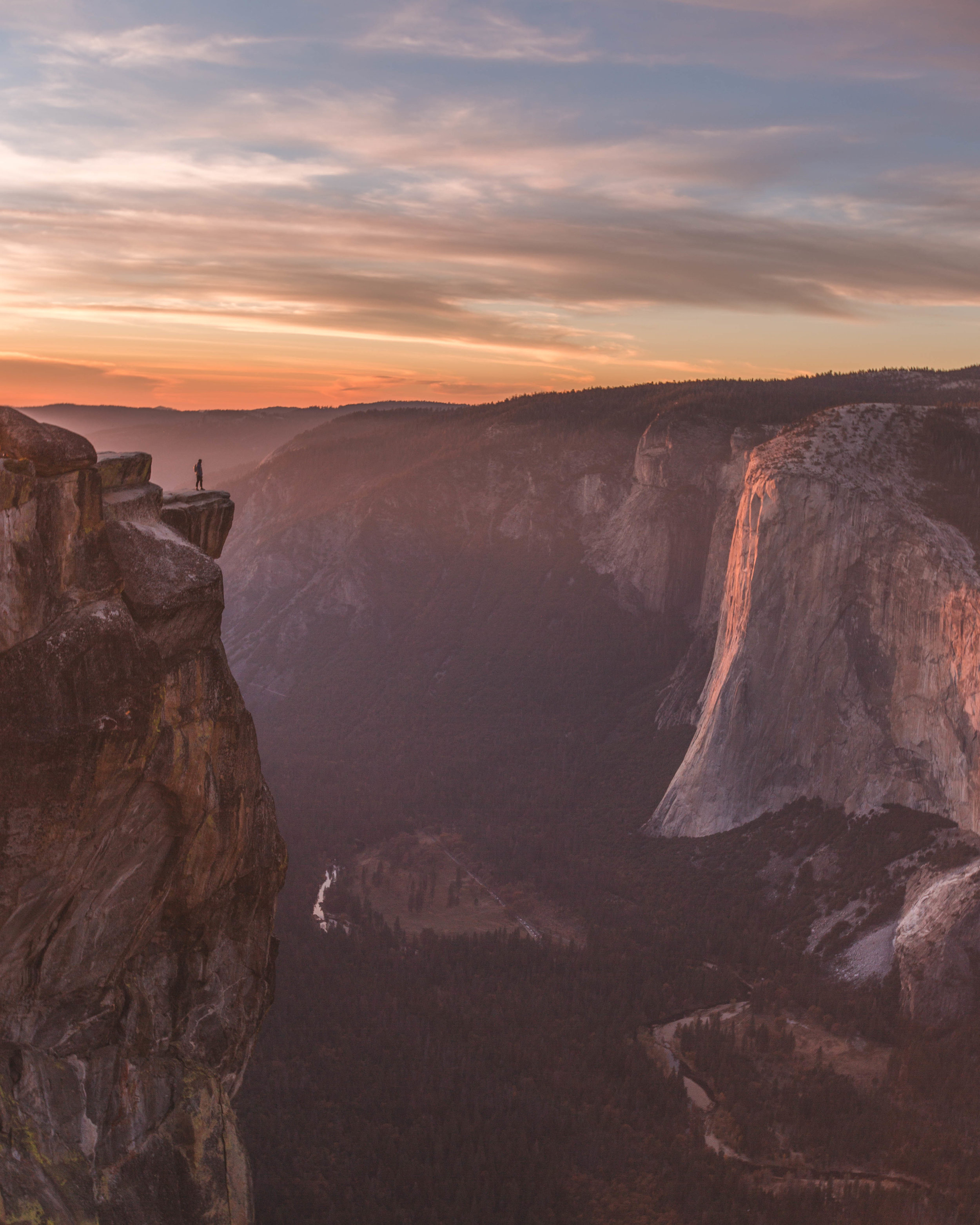Standing on the ledge at Taft Point