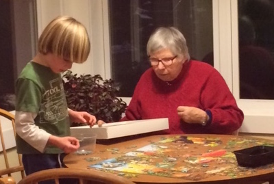 There are games and puzzles in the common house, that we can pull out on a rainy day.