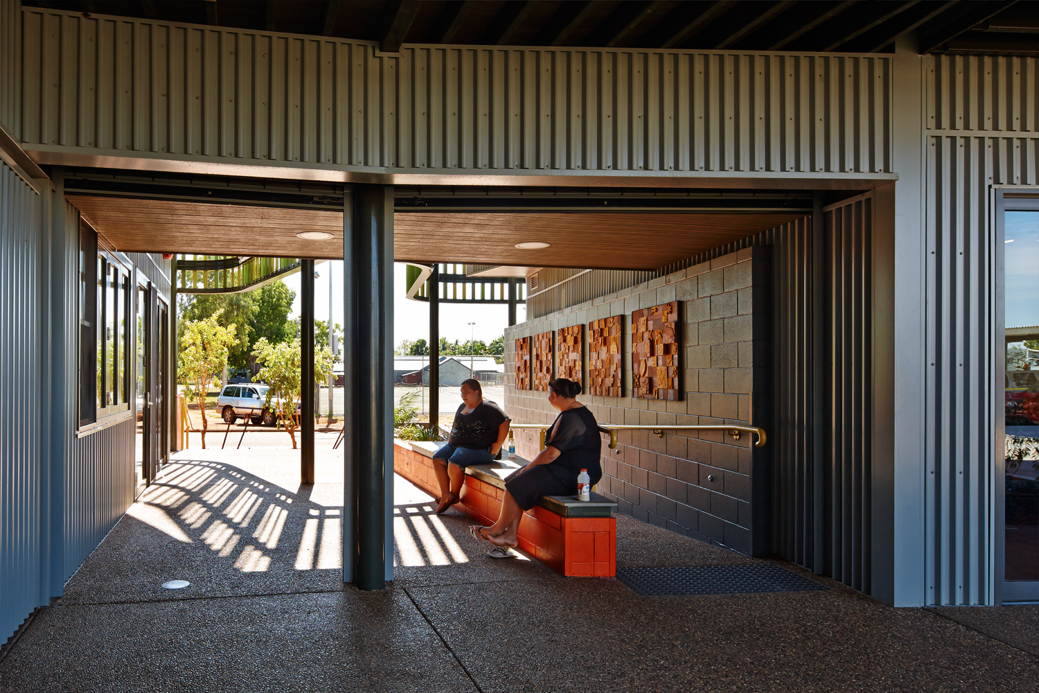 The MG/GT Administration Building in Kununurra, Western Australia, designed by CODA and Mark Phillips Architect (2013) serves two Indigenous organisations in the wide Kimberley region. Photo: Peter Bennetts