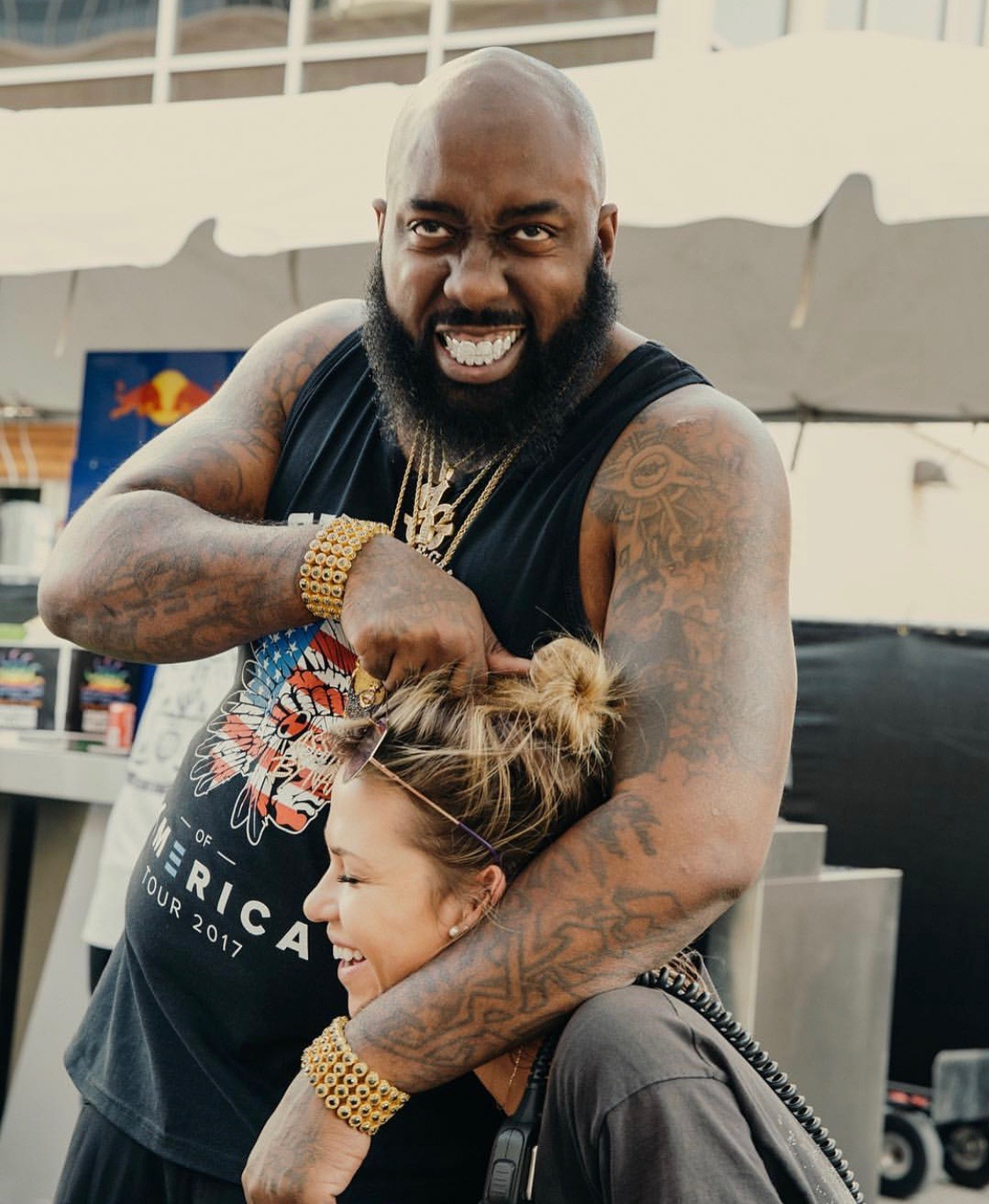 Claire pictured with Trae the truth (Photo BY:  Greg noire )