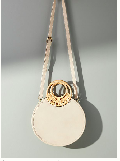 Anthropologie woven circle bag
