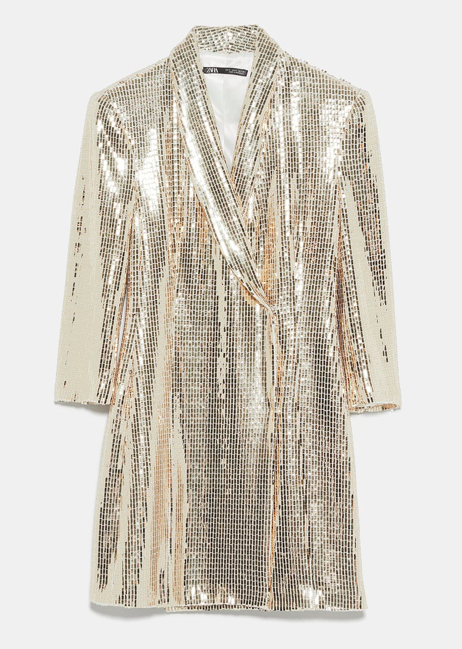 Zara Shiny Blazer Dress