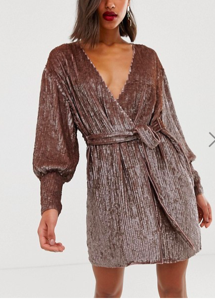 ASOS Sequin Wrap Dress