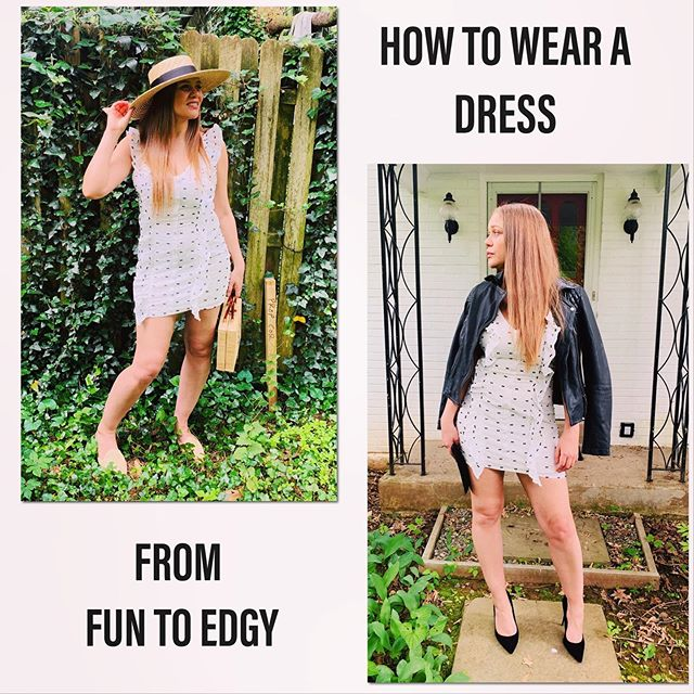 MOODBOARD: Fun to Edgy With this cute white mini dress from @shopelloboutique . This moodboard is to inspire you on HOW YOU CAN STYLE THE SAME DRESS creatively and wear it differently so that you are able to fully EXPRESS yourself in different roles!! . AS YOU SEE THIS DRESS is packed with cuteness with all its chic detailings - the curvy silhouette, the ruffle flare on the front and back and those cutest embroidered black prints!!! A GREAT FIT for summer!! . It's neutral coloring can even take you over seasons if styled strategically ❤️ WHICH I CAN HELP you with here 💁‍♀️ SO, Head over to the link in my bio and learn about⬇️ HOW TO WEAR A DRESS FROM DAY TO NIGHT ➕ get many EXCITING TIPS to WEAR YOUR SAME DRESS IN MULTIPLE WAYS💃🏻 ➕ Don't forget to grab your ⚡️DISCOUNT CODE⚡️when you hit the end of the blog that can get you 20% discount when you shop this dress!! Yayyy . ⚡️⚡️LINK IN THE BIO⚡️⚡️ . . . .  #aboutalook #fashion #fashionblog #fashionblogger #fashionstyle #outfitdiaries #ootd #ootdbloggers #ootdmagazine #outfitinspiration #styleblog #styleinspo #stylediaries #styleoftheday #outfitoftheday #styleblogger #outfitideas #whatiwear #fashionbloggers #bloggerlife #personalstylist #instamood #dresstoexpress #instafashion #fashionista #fashionshoot #follow #instastyle #fashionstylist #love
