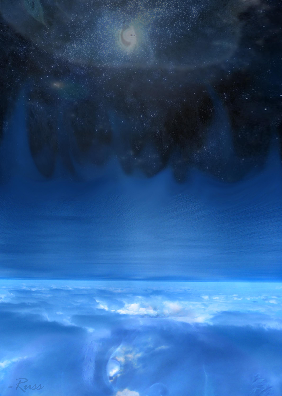 """vertigoBlue"" by Russ McIntosh - 16 in X 23 in (last seen in in 2013)"