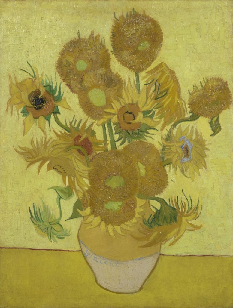 Vincent van Gogh, Still Life: Vase with Fifteen Sunflowers (1889). Courtesy of the Van Vogh Museum.