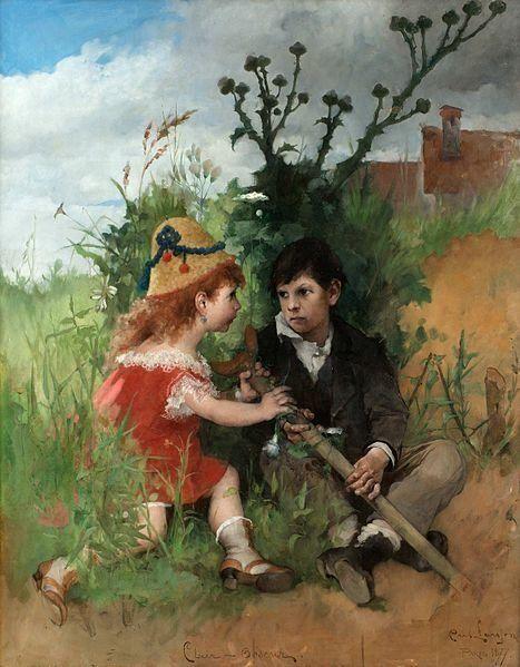 Carl Larsson, Clair-Obscur (1877).