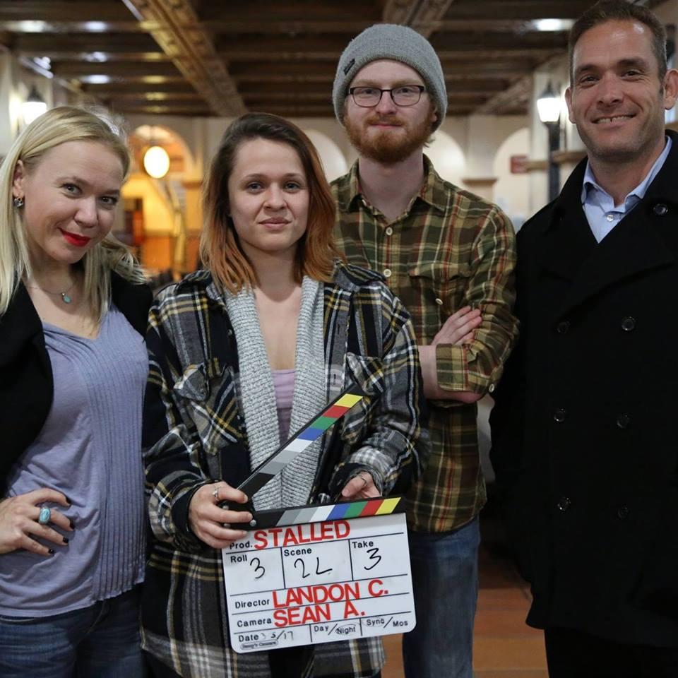 Lead actress Irina Kompa, producer Ashlee Sanchez, writer/director Landon Coats, and lead actor Jose Rosete.